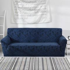 2018新款-色织9色防水沙发套-终板 235*300cm(XL码) 圈圈宝蓝