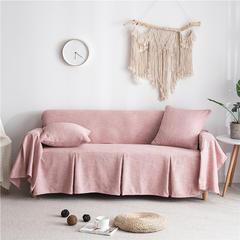 2019新款-粗麻沙发巾9色 45*45cm枕套 艾朵粉