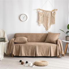 2019新款-粗麻沙发巾9色 45*45cm枕套 莱茵咖