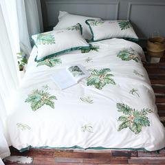 美丽家居 小清新长绒棉套件 1.5-1.8m床 芭蕉叶