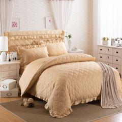 梦丽斯天扬    13372纯色夹棉床裙床笠款五件套(夹棉床头罩被套枕套) 48*74cm夹棉枕套/对 米黄