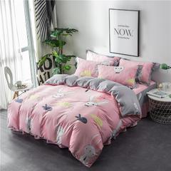 2018新款床裙四件套(花边枕款) 1.8*2.2床裙(2.2*2.4被套) 兔子先生