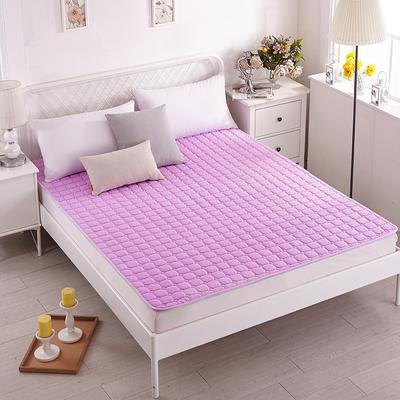 磨毛水洗床护垫 90*200cm 紫色