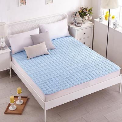 磨毛水洗床护垫 1.2m(4英尺)床 蓝色