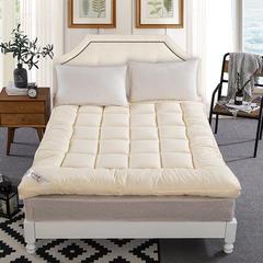 纯色羽丝绒床垫 90*200cm 米黄