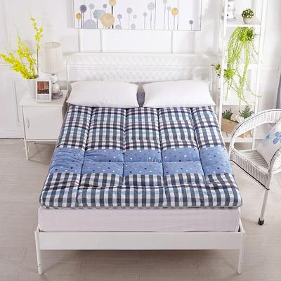 印花纤维软床垫 90*200cm 黄格子