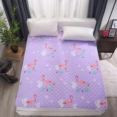 可水洗纳米印花床护垫 150*200cm 火烈鸟