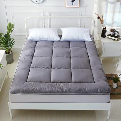 印花纤维软床垫 90*200cm 灰格子