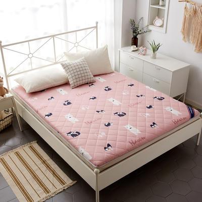 磨毛床垫 加厚款 有宿舍懒人图 100*200cm 狐狸与熊