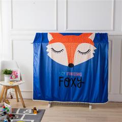 伊涞温ELEVEN 针织棉+宝宝绒毯被套 儿童卡通毛毯加厚宝宝绒花边毯 150cmX200cm 狐狸