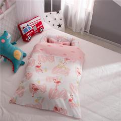 60贡缎全棉便捷式婴儿床可拆洗 带被子儿童床中床 其它 火烈鸟