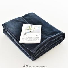 2016良品保暖纤维厚毛毯 140cmx200cm T551宝蓝