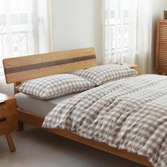 2016NEW水洗棉中格专柜款 1.2米床笠款 MB236新米色中格