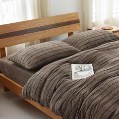 BROS色纺毛巾套件 1.2米床笠款 MT301AA棕色条纹