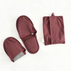 良品旅行便携拖鞋 女款36~38均码 海军蓝x红色