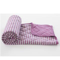 色纺针织夏被条纹 150x200cm 混粉灰条纹