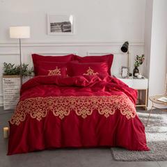 60S长绒棉多件套 米兰达-波西米亚红 标准(1.5m-1.8m床) 米兰达-波西米亚红