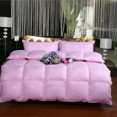 羽绒被系列 防羽纯棉印花羽绒被 200*230(填充好绒丝) 粉色