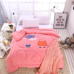 水洗棉贴花冬被(小猪佩奇和小熊维尼) 150x200cm 小猪佩奇-红