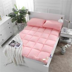 红福鸟家纺加厚斜纹素色水洗棉立体羽丝床垫 120*200cm 玉色