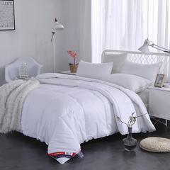 红福鸟家纺宽幅全棉素色羽丝被冬被 150x200cm 白色