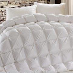 羽绒被系列 柔赛丝面包格羽绒被冬被 200*230(填充好绒丝) 白色