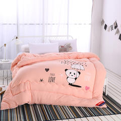 水洗棉贴花冬被(小猪佩奇和小熊维尼) 150x200cm 小熊维尼-玉