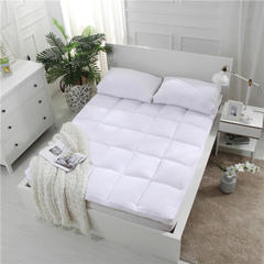 2018新款加厚水洗棉羽丝绒床垫 1.2m(4英尺)床 白色