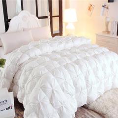 2018新款扭花柔赛丝羽绒被冬被 200x230cm3.6斤(填充好绒丝) 白色