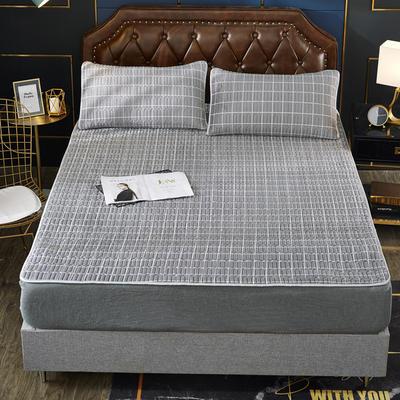 2019新款乳胶防螨床垫三件套 90*200cm 乳胶防螨垫  格调灰