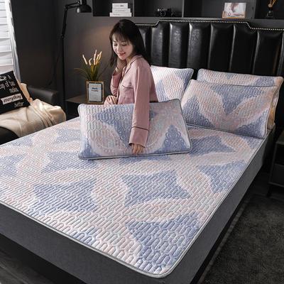 2020新款天丝乳胶凉席床笠床垫冰丝席竹席藤席软席枕套三件套 1.2m(4英尺)床 卡宴