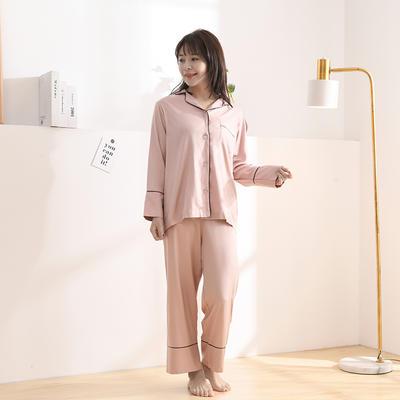 2020天丝60S睡衣裤女士款 均码(适合女士体重;90斤-130斤) 睡衣-豆沙
