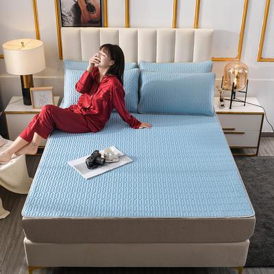 2020新款凉感丝乳胶空调凉席三件套 60*120cm 乳胶-蓝