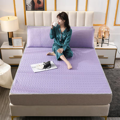 2020新款凉感丝乳胶空调凉席三件套 60*120cm 乳胶-紫