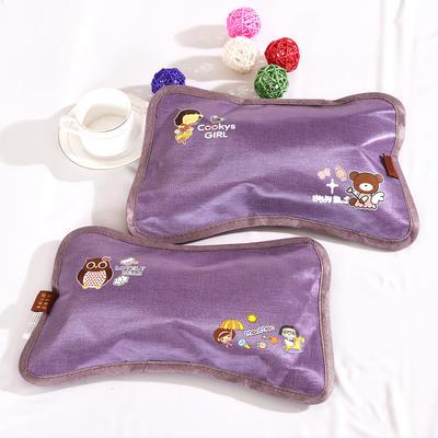 2020新款茶叶茉莉花宝宝凉枕 23cmX36cm 紫色