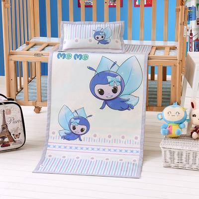 2020新款小蜜蜂童席两件套 竹席 60X120 (含枕头20X38) 小蜜蜂蓝
