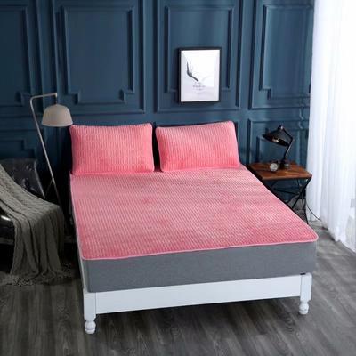 2020新款水洗乳胶防螨床垫款三件套 0.9m床垫款两件套 乳胶床垫砖红