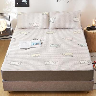 2020新款水洗乳胶防螨床垫款三件套 0.9m床垫款两件套 乳胶防螨垫  深海奇缘灰
