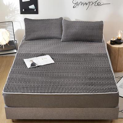 2020新款水洗乳胶防螨床垫款三件套 0.9m床垫款两件套 乳胶防螨垫  休闲时光黑白