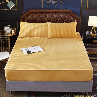 2020新款水洗乳胶防螨床笠款三件套 1.5m床笠款三件套 柠檬黄