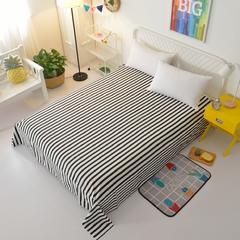全棉小清新单品床单 120cmx230cm 条格