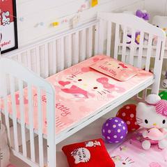 正品HelloKitty婴儿凉席冰丝儿童婴儿床凉席幼儿园宝宝专用席夏季新生儿午睡凉席 120cmX60cm 甜心萌猫