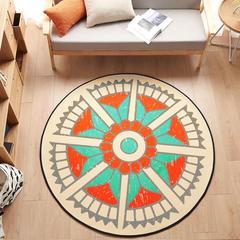 多规格宜家地垫几何简约现代北欧图案地毯客厅茶几卧室床边家用长方形可机洗 800MM×800MM 维萨