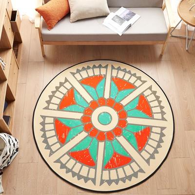 多规格宜家地垫几何简约现代北欧图案地毯客厅茶几卧室床边家用长方形可机洗 800MM×800MM 弥雅