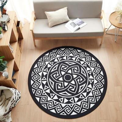 多规格宜家地垫几何简约现代北欧图案地毯客厅茶几卧室床边家用长方形可机洗 800MM×800MM 卡巴伦