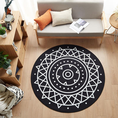 多规格宜家地垫几何简约现代北欧图案地毯客厅茶几卧室床边家用长方形可机洗 800MM×800MM 传奇