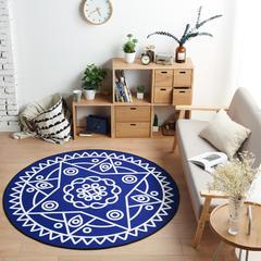 多规格宜家地垫几何简约现代北欧图案地毯客厅茶几卧室床边家用长方形可机洗 800MM×800MM 星际