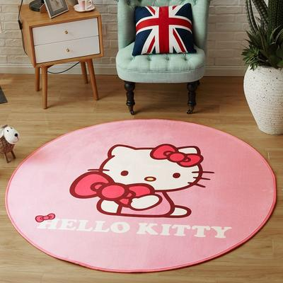 正版-HelloKitty 卡通地垫KT地垫 儿童房间客厅卧室 1500x1500MM 粉红KT