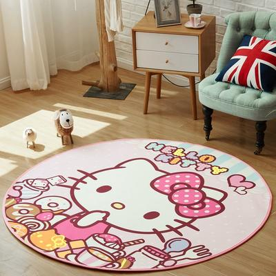 正版-HelloKitty 卡通地垫KT地垫 儿童房间客厅卧室 1500x1500MM 派对KT