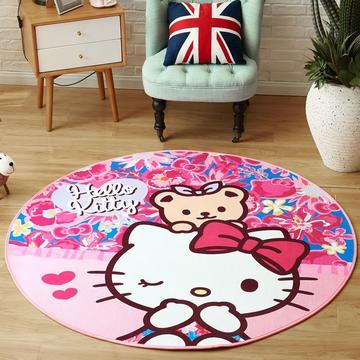 正版-HelloKitty 卡通地垫KT地垫 儿童房间客厅卧室